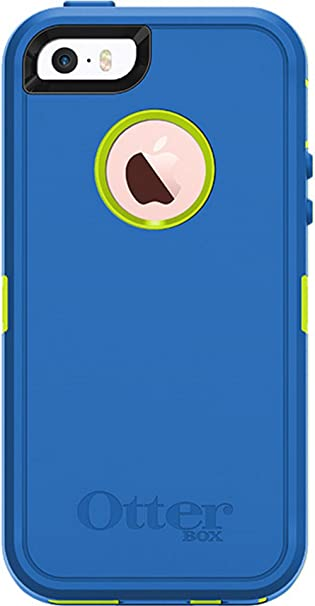 sports shoes 3ee01 622ab OtterBox DEFENDER SERIES Case for iPhone 5/5S/SE ONLY - Retail Packaging -  (Ocean Blue/Glow Green)