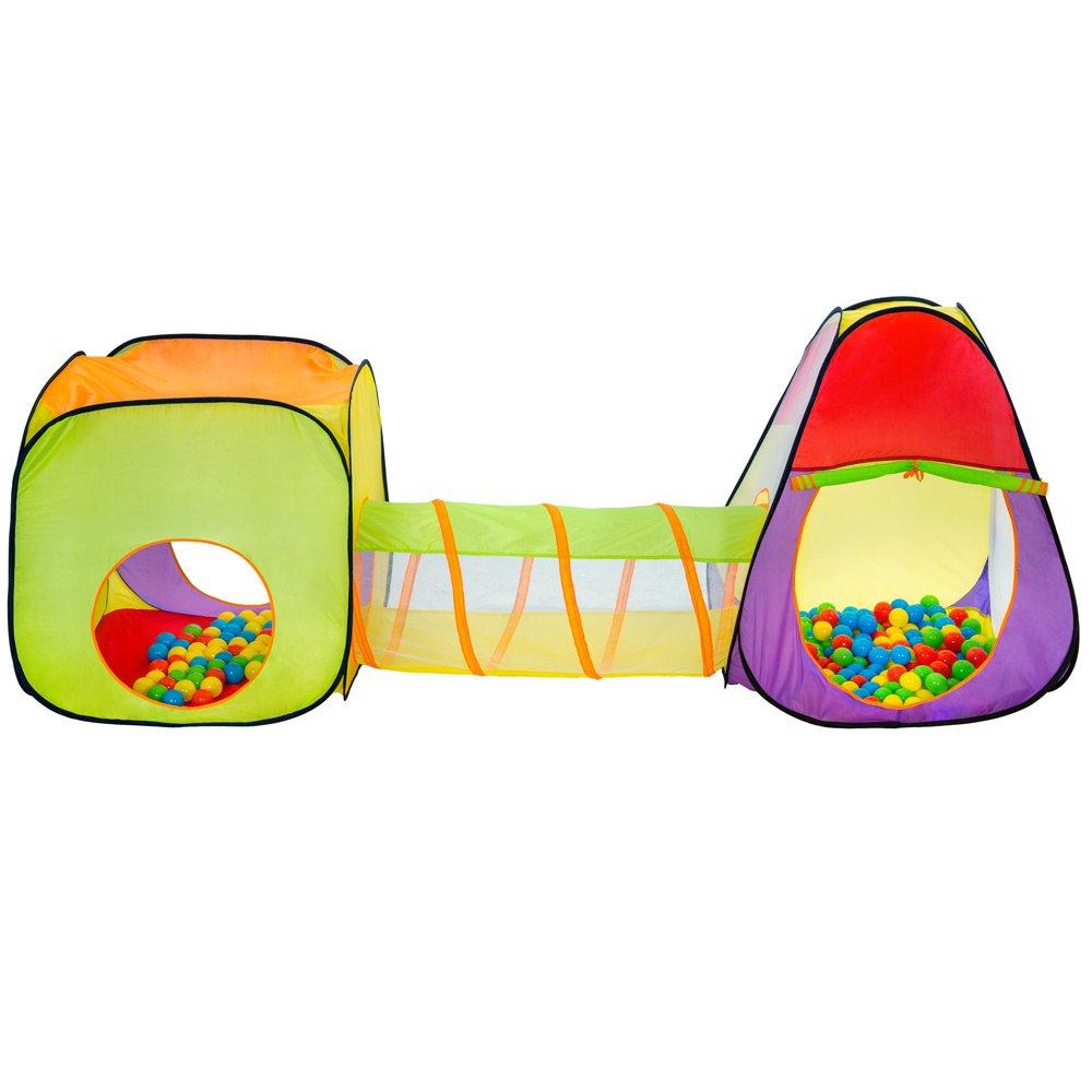 Pop Up Tenda da Gioco con Palline per Bambino incl 200 Palline -Modelli Differenti- Tascabile Tipo 2 | No. 400729 TecTake Tenda Giochi per Bambini