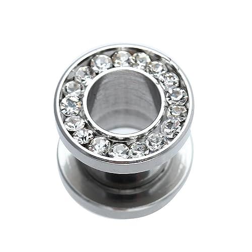 Dilatador Dilatación Piercing Tubo Acero Inoxidable Diamante de ...