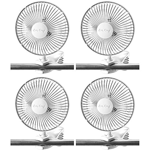 Air King 6 Inch Commercial 120V Personal Clip On Fan Air Circulator (4 Pack) by Air King