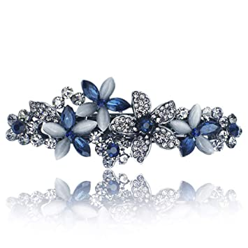 Girls Jewelry Crystal Flower Hair Clip Rhinestone Hairpin Barrettes Headwear