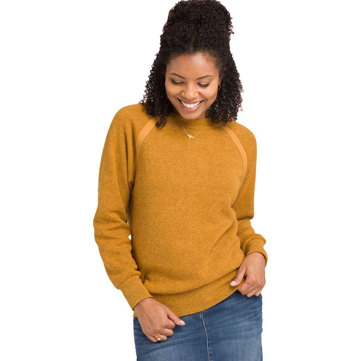 prAna Women's Cozy Up Sweatshirt, Copper Sand Heather, Small by prAna