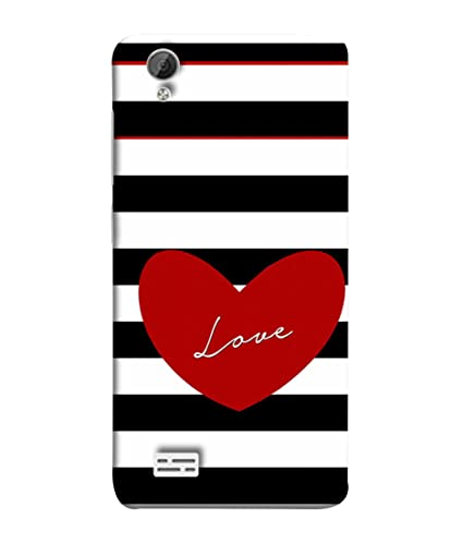 best sneakers 2cf23 ef540 VIVo Y31, VIVo Y31L Back Cover Red Heart With: Amazon.in: Electronics
