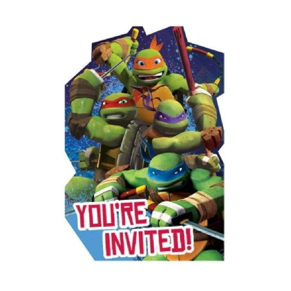 Bargain World - Invitaciones de Las Tortugas Ninja Mutant (8 ...