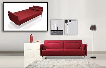 Amazon.com: Divani Casa Davenport - Modern Red Fabric Single ...