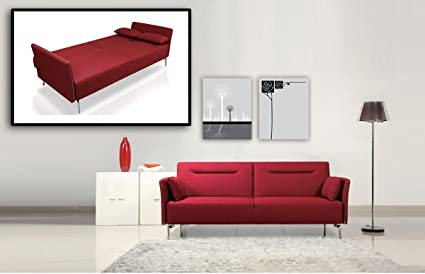 Amazon.com: Divani Casa Davenport - Modern Red Fabric Single Sofa ...