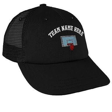 Amazon.com: Gorra de béisbol con diseño de aro de baloncesto ...