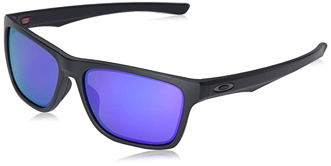 49ebe82b7c6 Oakley Men s Holston Iridium Square Sunglasses MATTE BLACK 57.9 mm ...
