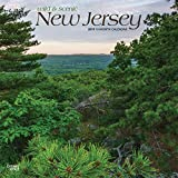 New Jersey, Wild & Scenic 2019 12 x 12 Inch Monthly Square Wall Calendar, USA United States of America Northeast State Nature