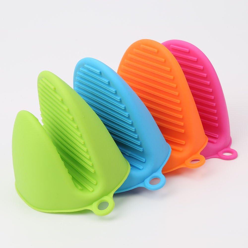 GerTong Gants de Cuisine /épaissir Silicone Anti-scalding Isolation Gants de Protection pour Pot de Cuisine Four Bol Support Orange