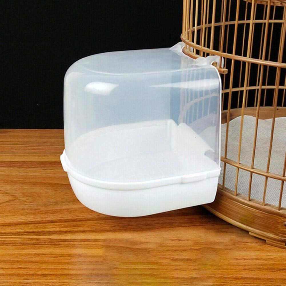 Vasca da bagno per uccelli Box doccia per animali domestici Gabbia per uccelli Gabbia sospesa Bacino Pappagalli Parrocchetto Budgie Cockatiel Vasca da bagno in plastica trasparente vasca da bagno