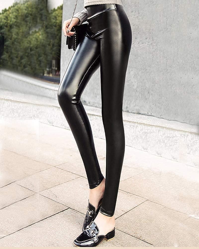 vendita a buon mercato nel Regno Unito sempre popolare Scarpe 2018 Leggings Donna Skinny Pu Leggings Similpelle Elastico Termici ...