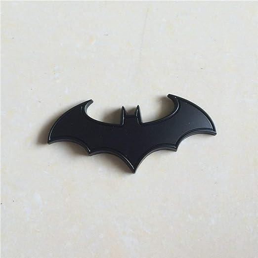 FYstar Chrome Badge in Metallo Emblema Batman 3D Coda Decalcomanie Auto Auto Moto Logo Adesivo Personalizzato in Metallo Bat Nero