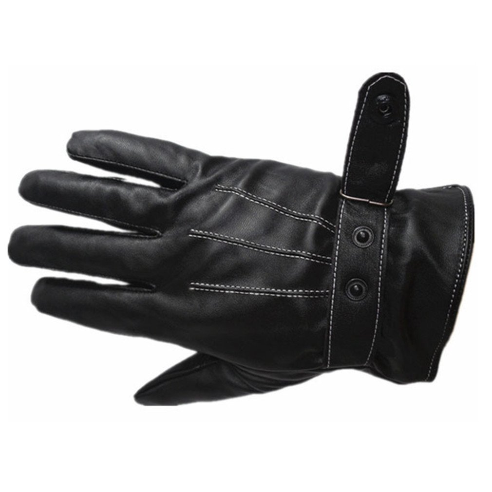 Longra Herren Luxus PU Leder Winter super warm Handschuhe Cashmere Fahr Longra14