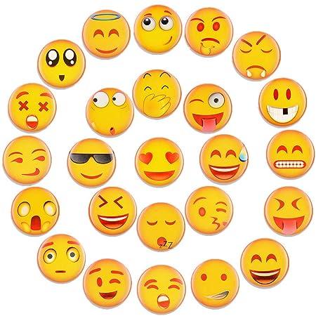 UBAOXIN Imanes Nevera, 25 Pieza Lindo Emoji Fuerte Magnético ...