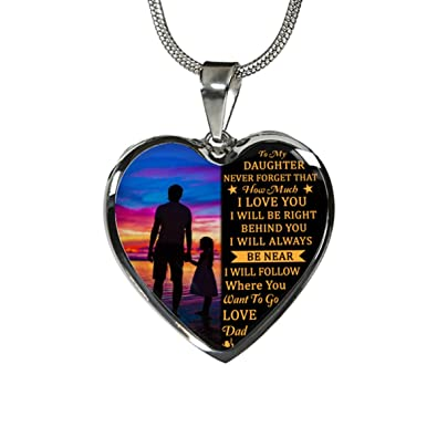 fba8ed7359e93 Stashix To My Daughter Never Forget How Much I Love You Love Dad Luxury  Silver Necklace