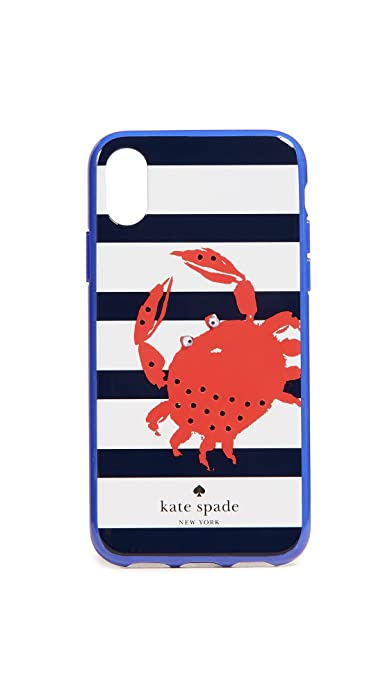 sports shoes c7fde 3de41 Kate Spade New York Women's Jeweled Stripe Crab Phone Case for ...