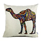 18 x 18 Standard Size Camel Print Pattern Decorative Pillow Case Cushion Covers