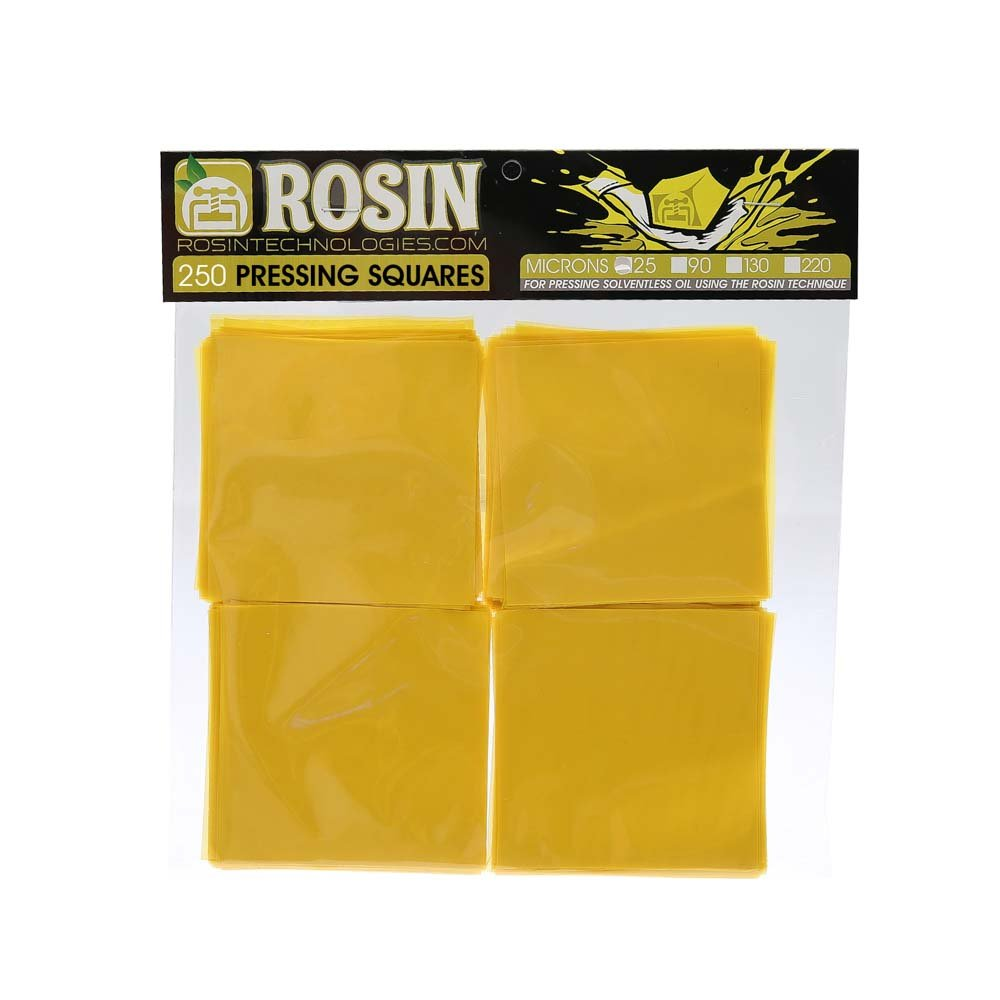 Rosin Technologies 25 Micron Pressing Squares (250 Pack)