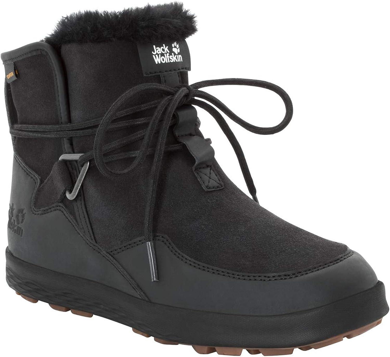 Jack Wolfskin Women s Auckland WT Texapore Boot Waterproof Fleece Lined Winter Chukka Sneaker, Black Black, US Women s 5.5 D US
