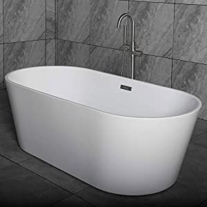 WOODBRIDGE Freestanding Bathtub Contemporary Soaking Tub