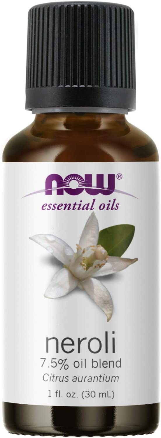 NOW Essential Oils, Neroli Oil, Deeply Floral Aromatherapy Scent, Steam Distilled, 100% Pure, Vegan, Child Resistant Cap, 1-Ounce