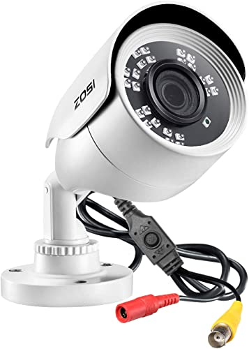 ZOSI 2MP 1080p HD Security Camera Outdoor Indoor 1920TVL Hybrid 4-in-1 HD-CVI TVI AHD 960H Analog CVBS ,24PCS LEDs,80ft Night Vision, 90 View Angle, Weatherproof Surveillance CCTV Bullet Camera