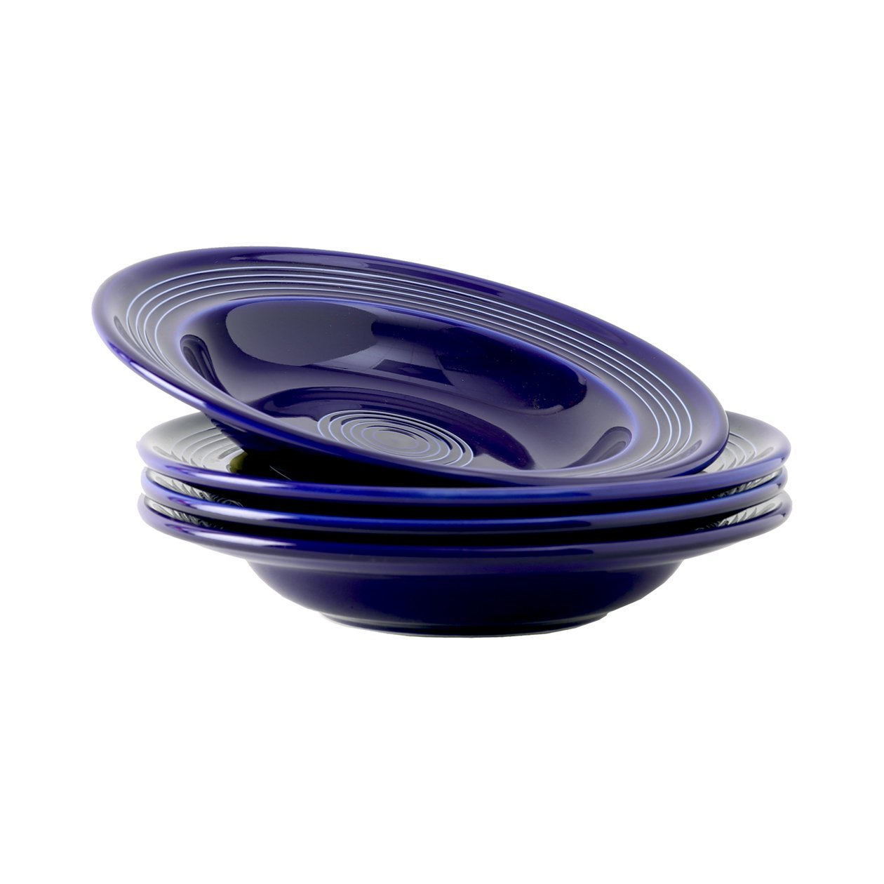 Tuxton Home Concentrix Rim Soup Bowl (Set of 4), 9'' (12 oz), Cobalt Blue; Heavy Duty; Chip Resistant; Lead and Cadmium Free; Freezer to Oven Safe up to 500F