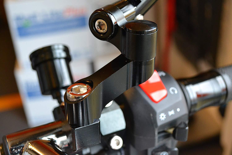 Muy Alta Calidad Par Moto Espejo Extensores 6cm Largo y 10mm M10 Hilo hacia Derecha Hilo Solo