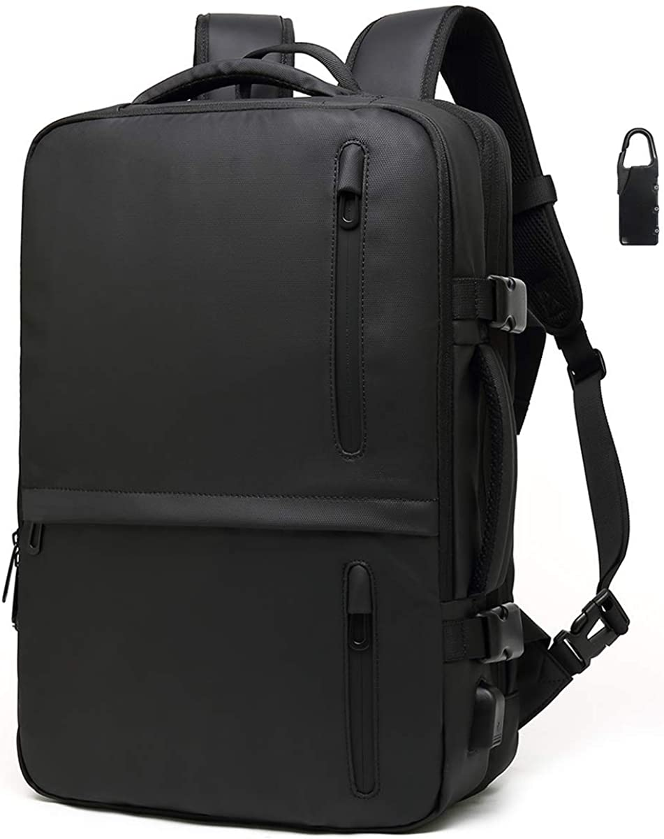 """Large Capacity Travel Backpack, 17.3"""" Laptop Backpack with USB Charging Port"""
