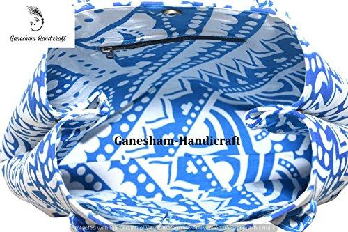 GANESHAM HANDICRAFTS, Borsa a mano donna blu Blue