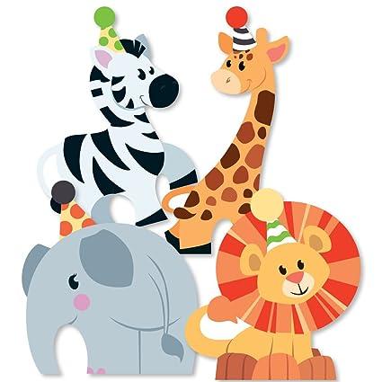 Amazon Com Jungle Party Animals Elephant Giraffe Lion And Zebra