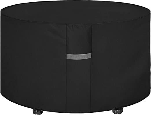 Dokon Garden Table Cover With Air Vent Waterproof Windproof Anti Uv Heavy Duty Rip Proof 600d Oxford Fabric Patio Set Cover Garden Furniture