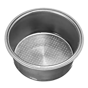 Fityle Stainless Steel Non Pressurized Filter Basket 2-Cup 51mm Coffee Cup High Ruggedness for Breville Delonghi Krups Coffee Mmachine