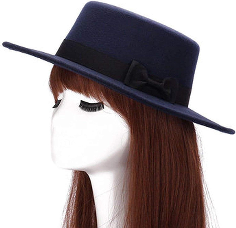 Wool Boater Flat Top Hat 's...
