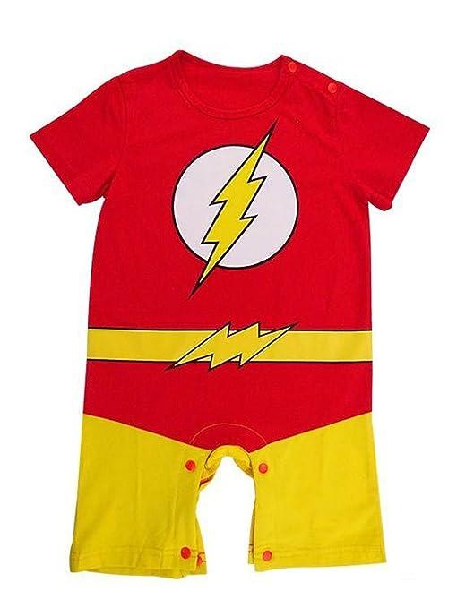Flash de Boy para bebé Pelele de cómics de superhéroe fiesta ...