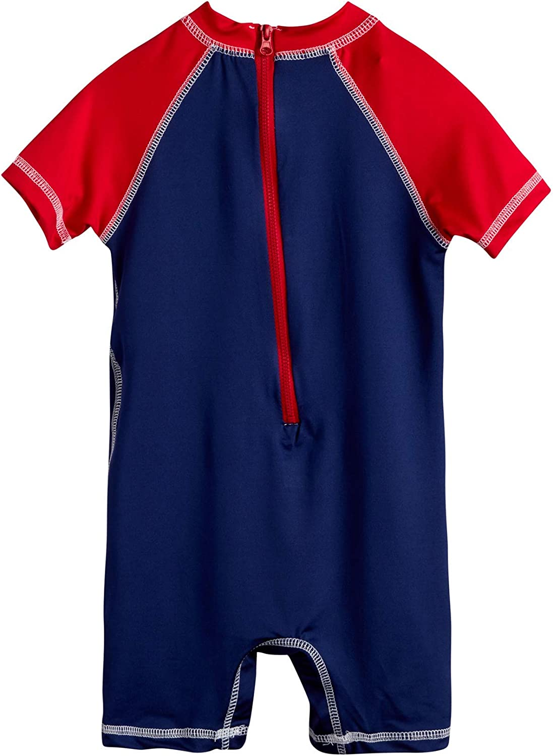 Red//Navy//Crab Size 18 Months Newborn and Infant Sun Protection Swimsuit Wippette Baby Boys One-Piece UPF 50+ Rash Guard Sunsuits