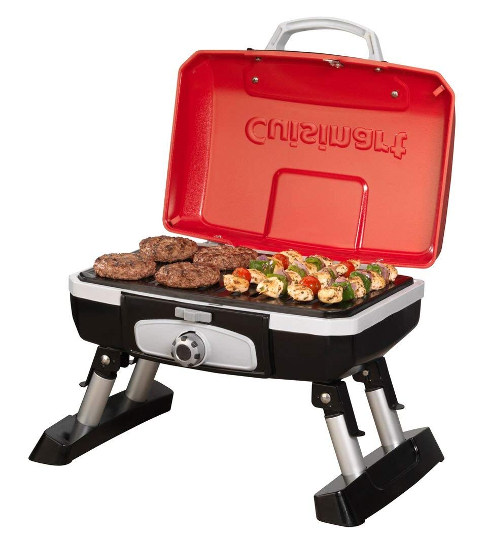 Cuisinart CGG-180T Petit Gourmet Portable Tabletop Gas Grill, Red (Renewed) by Cuisinart (Image #9)