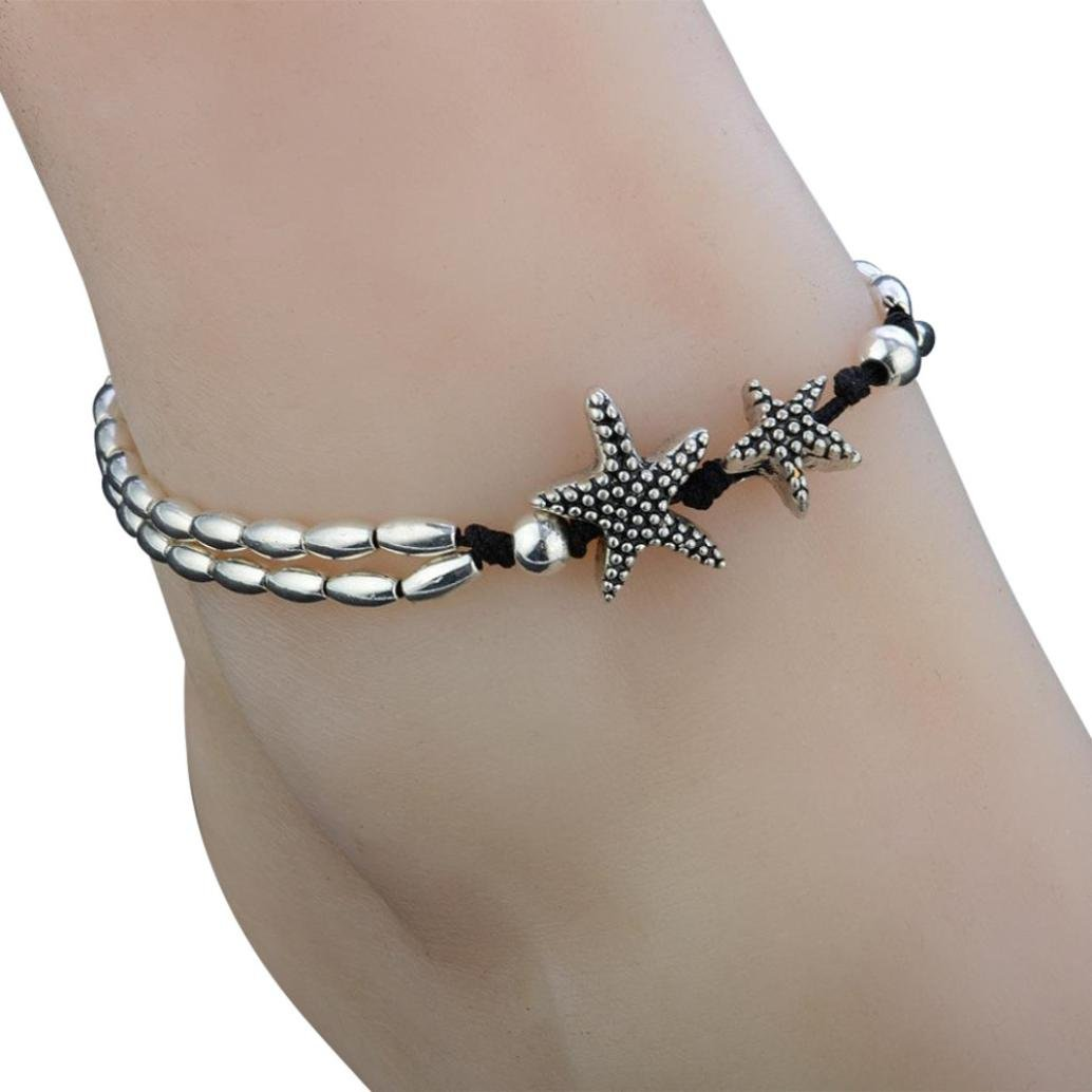 Clearance Anklet Star Foot Bracelet Barefoot Beach Vintage Ankle Leg Jewelry for Women by Laimeng (A)