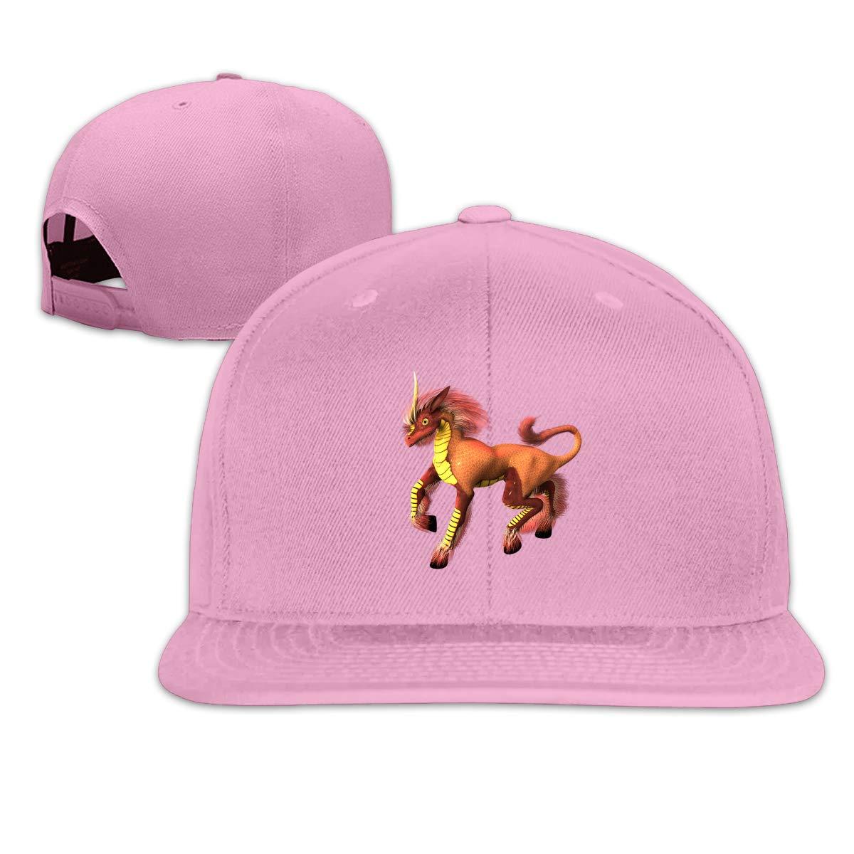 Creatures Unicorn Flat Brim Baseball Cap Adjustable Snapback Trucker Hat Caps Hip Hop Hat