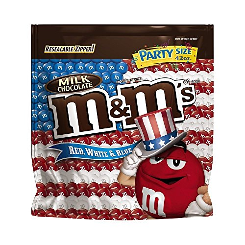 M&M'S Patriotic Red, White and Blue Milk Chocolate Candy Party Size 42-Ounce Bag
