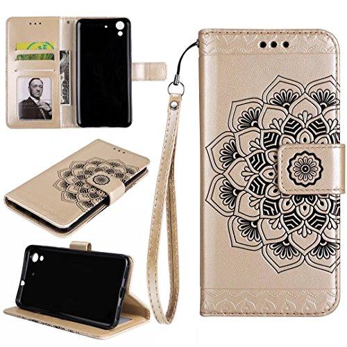 COWX Y6 II Hülle Kunstleder Tasche Flip im Bookstyle Klapphülle mit Weiche Silikon Handyhalter PU Lederhülle für Huawei Y6 II Tasche Brieftasche Schutzhülle für Huawei Y6 II schutzhülle 2pX5v9L23