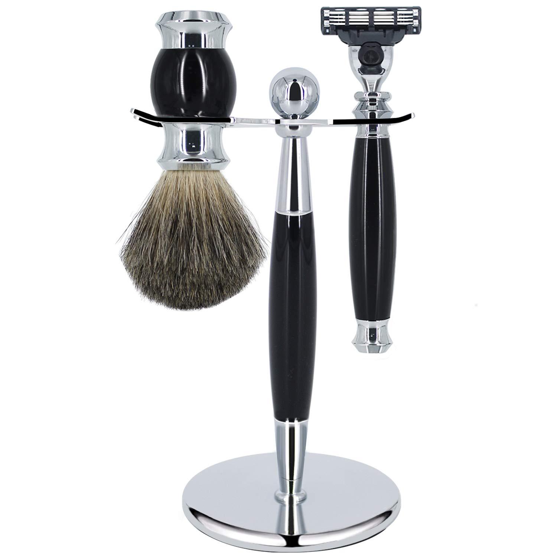 Amazon Com Eravor Men S Shaving Kit Include Mach3 Safety Razor Shaving Stand Holder Badger Hair Brush Shaving Set Gift For Men Husband Father Or Brother Beauty