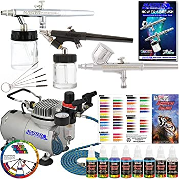 Master Airbrush Kit-sp19-20 Art Airbrushing System Paint Kit With Standard Compressor (11 Items) 0