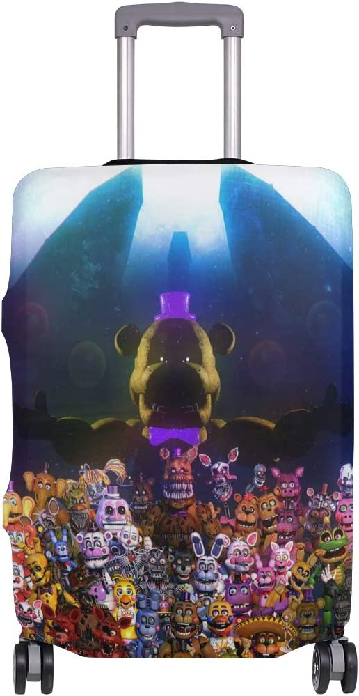 Five Nights At Freddys Travel Luggage Cover Suitcase Protector Fits 26-28 Inch Washable Baggage Covers