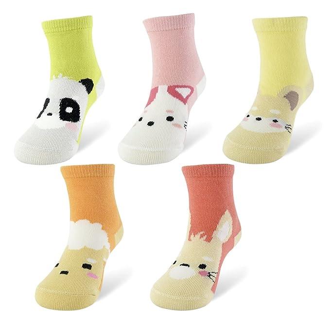 Amazon.com: Slaixiu Calcetines de algodón para niños, diseño ...
