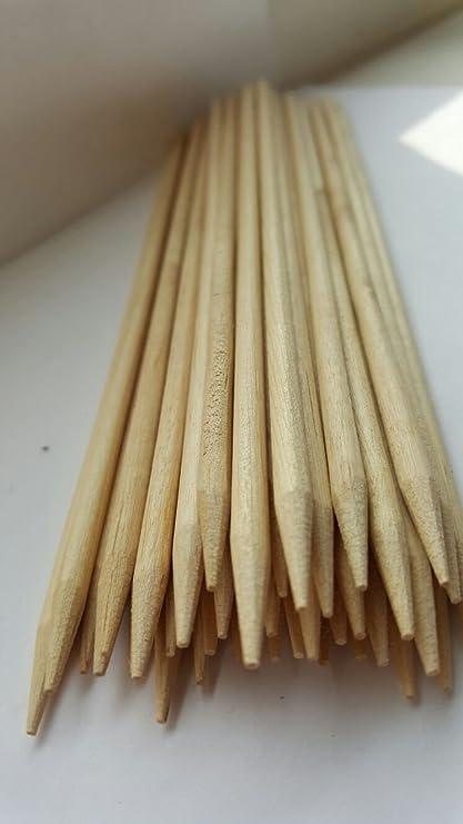 100pinchos, brochetas GN Enterprises para barbacoa hechos de madera de bambú;