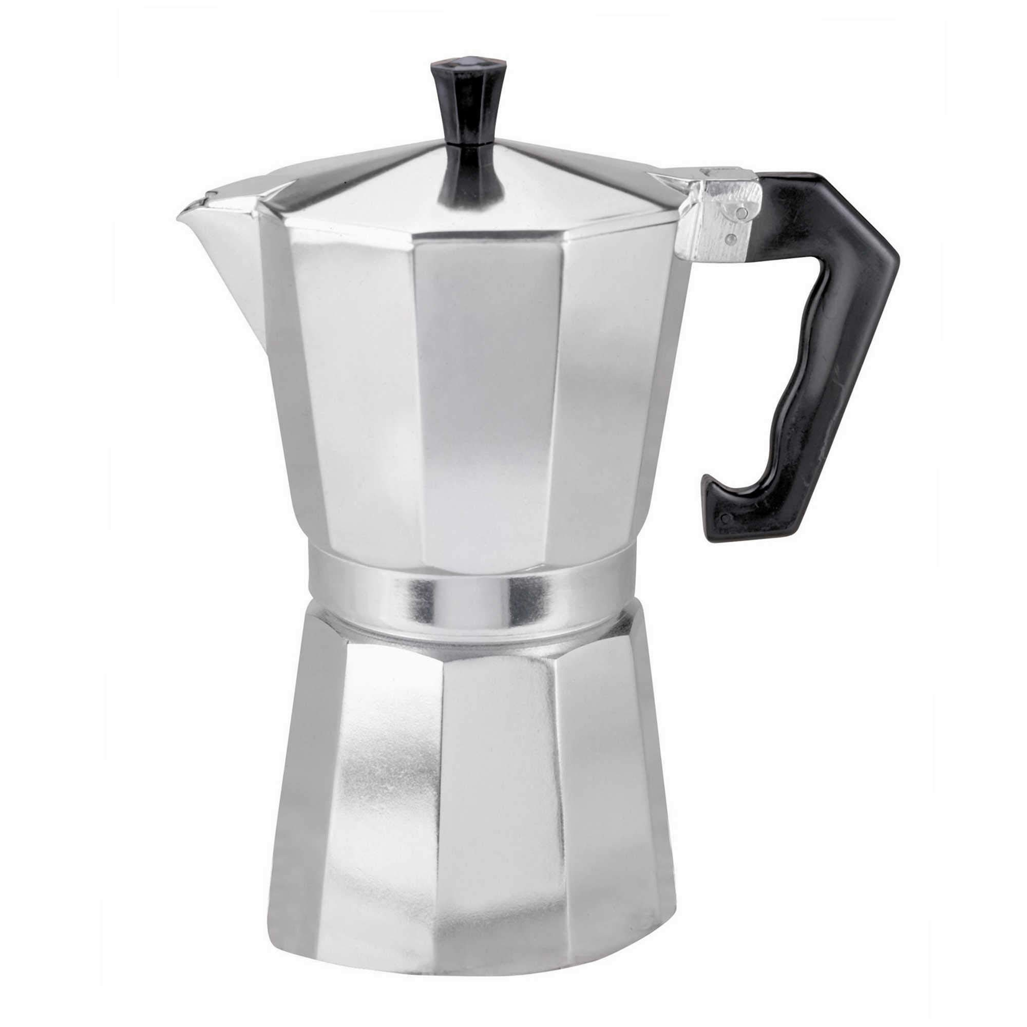9 Cup Italian Style Expresso Coffee Maker for Use on Gas Electric and Ceramic Cooktops