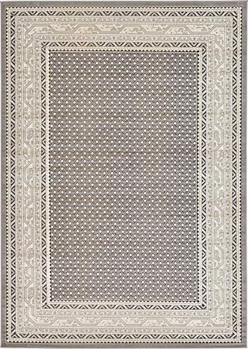 Unique Loom Williamsburg Collection Traditional Border Gray Area Rug (7