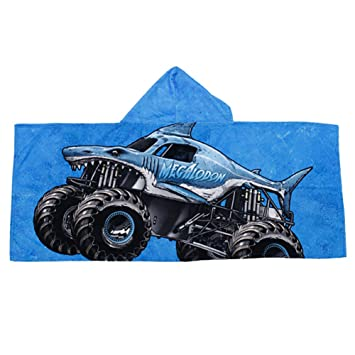 ff1781a930 Amazon.com : Monster Jam Megalodon Kids Hooded Towel : Baby
